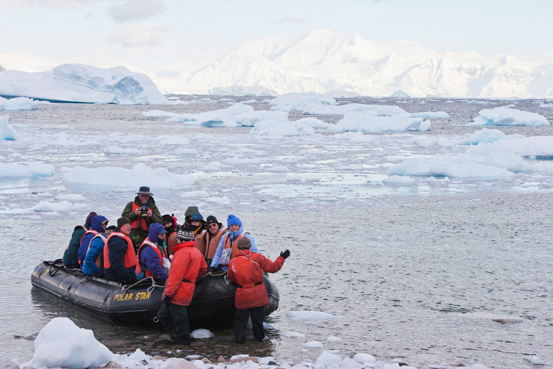 One of the many zodiac landings that you will perform on your Antarctica expeditions © Claudio F. Vidal - www.fsexpeditions.com