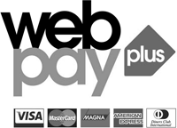 Pay by credit card using our secure payment system powered by WebPay Plus