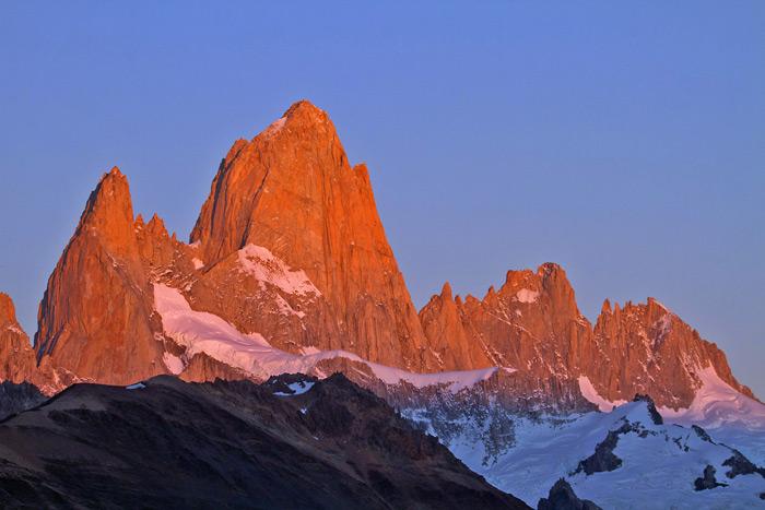 Sunrise at Mt Fitz Roy, Los Glaciares National Park, El Chalten, Argentina © Claudio F. Vidal