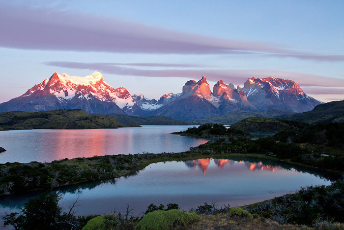 Sunrise at Torres del Paine National Park, Patagonia, Chile © Claudio F. Vidal, Far South Expeditions