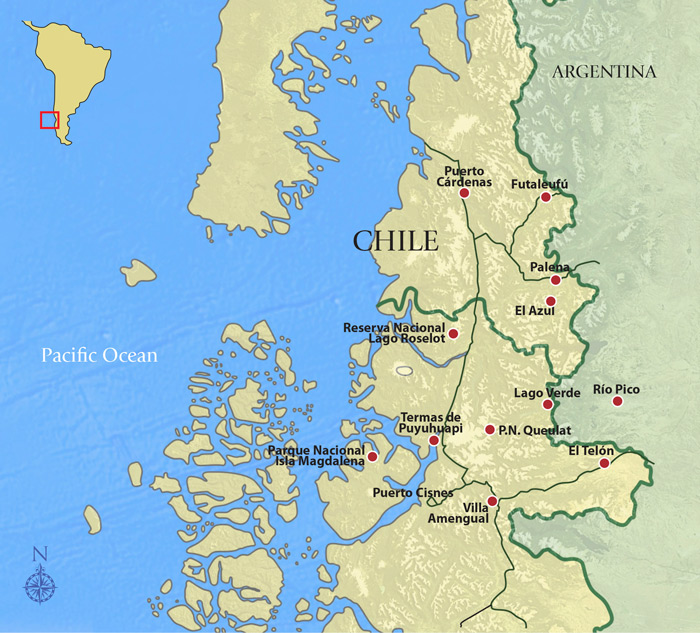 Blue Whales of Chile Trip Map