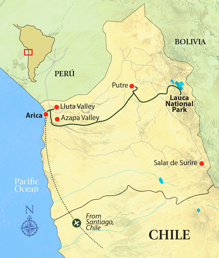Northern Chile Photography Adventure Tour Map