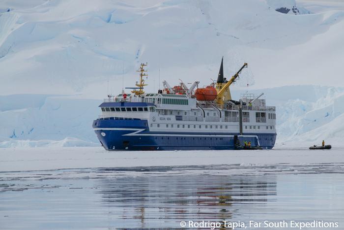 M/VOcean Nova, our cruise to explore Cape Horn, the Drake Passage and the Antarctic Peninsula © Rodrigo Tapia, Far South Exp