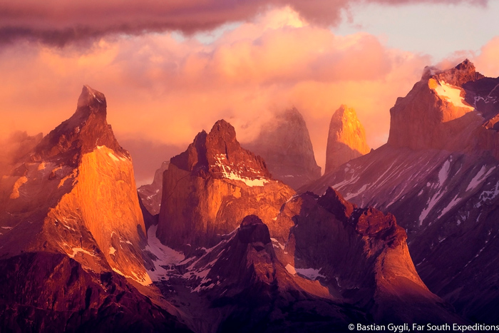 Sunrise at Torres del Paine National Park © Bastian Gygli, Far South Exp