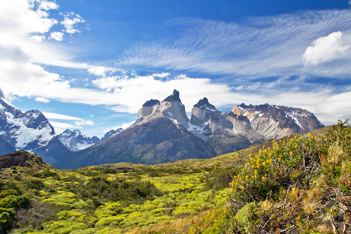 The awe-inspiring Paine Massif, Torres del Paine National Park, Chile © Claudio F. Vidal, Far South Expeditions
