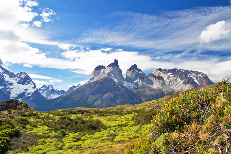The mighty 'Cuernos del Paine' - the Horns - an impressive mountain backdrop during most of our excursions, Torres del Paine National Park, Chilean Patagonia © Claudio F. Vidal, Far South Expeditions
